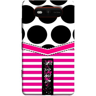 FUSON Designer Back Case Cover for Nokia Lumia 820 (Beautiful Cute Nice Couples Pink Design Paper Girly I)