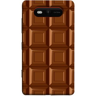 FUSON Designer Back Case Cover for Nokia Lumia 820 (Candies Candy Chocolate Marshmallo Colourful Child)