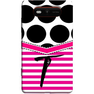 FUSON Designer Back Case Cover for Nokia Lumia 820 (Beautiful Cute Nice Couples Pink Design Paper Girly T)