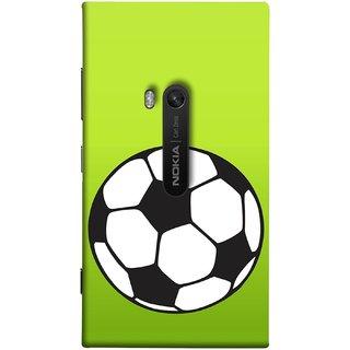 FUSON Designer Back Case Cover for Nokia Lumia 920 :: Micosoft Lumia 920 (Football Ground Ball Black White Fifa League )