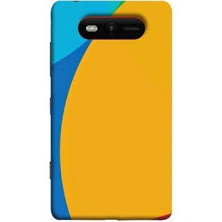 FUSON Designer Back Case Cover for Nokia Lumia 820 ( Large Medium Circles Orange Yellow Red Blue Grey)