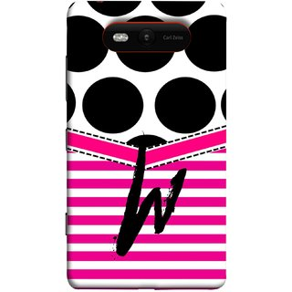 FUSON Designer Back Case Cover for Nokia Lumia 820 (Beautiful Cute Nice Couples Pink Design Paper Girly W)