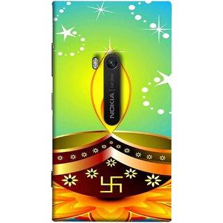 FUSON Designer Back Case Cover for Nokia Lumia 920 :: Micosoft Lumia 920 (Wallpaper Vector Beautiful Vector Diwali Diya)