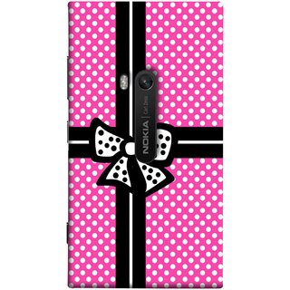 FUSON Designer Back Case Cover for Nokia Lumia 920 :: Micosoft Lumia 920 (Red And Black With Ribbon Gift Presents Wrapping)