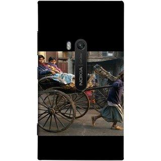 FUSON Designer Back Case Cover for Nokia Lumia 920 :: Micosoft Lumia 920 (Wheel Hay Cart Old Wagons Indian Cycle Rickshow)