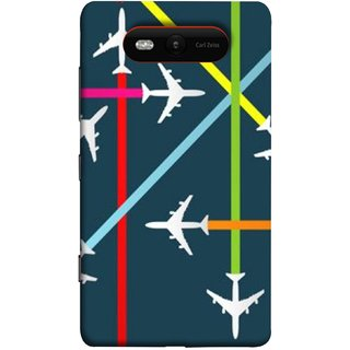 FUSON Designer Back Case Cover for Nokia Lumia 820 (Aeropalnes Flights Schedules Origin Destination Map)