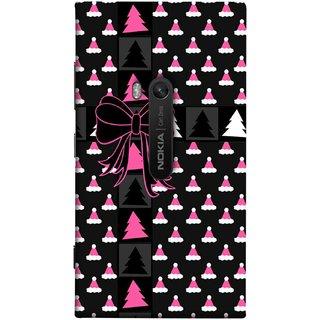 FUSON Designer Back Case Cover for Nokia Lumia 920 :: Micosoft Lumia 920 (Hat Clip Art Christmas Tree Gifts For Winter Design)