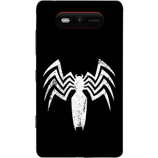 FUSON Designer Back Case Cover for Nokia Lumia 820 (Spiderman Logo Catwoman Dc Comics Parker)