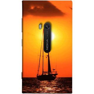FUSON Designer Back Case Cover for Nokia Lumia 920 :: Micosoft Lumia 920 (Sailboat Sailing On The Beautiful Greek Sea Sunset )