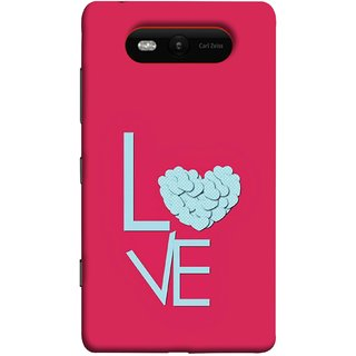 FUSON Designer Back Case Cover for Nokia Lumia 820 (Best Gift For Valentine Friends Lovers Couples Baby Pink Red )