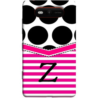 FUSON Designer Back Case Cover for Nokia Lumia 820 (Beautiful Cute Nice Couples Pink Design Paper Girly)