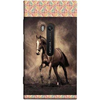 FUSON Designer Back Case Cover for Nokia Lumia 920 :: Micosoft Lumia 920 (Beautiful Horse Black And White Brown Canvas Wallpaper)