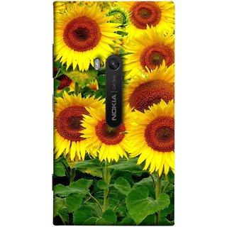 FUSON Designer Back Case Cover for Nokia Lumia 920 :: Micosoft Lumia 920 (Field Of Bright Happy Sunflowers Outside Oil Food)