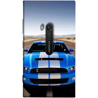 FUSON Designer Back Case Cover for Nokia Lumia 920 :: Micosoft Lumia 920 ( Road Shelby Mustang Engine Shelby Beautiful Blue)