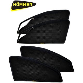 HOMMER Premium Quality Zipper Magnetic Sun Shades (Set Of 6) For Mitsubishi Pajero Sport
