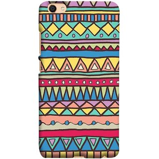 FUSON Designer Back Case Cover For Oppo F3 (Tribal Patterns Colourful Eye Catching Verity Different )