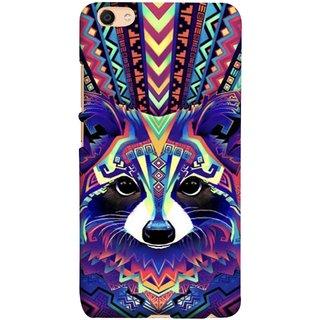 FUSON Designer Back Case Cover For Oppo F3 (Dog Cat Kitten Whisker Puppy Triangle Rectangle)