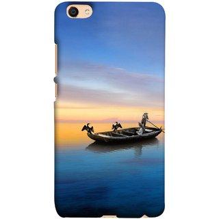 FUSON Designer Back Case Cover For Oppo F3 (Water Sea Sky Beautiful Boat Cruise Horizon )
