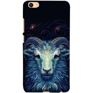 FUSON Designer Back Case Cover For Oppo F3 (Bail Goat Horn Strong Bakara Style Design)