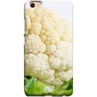 FUSON Designer Back Case Cover For Oppo F3 (Organic Cauliflower Background Table Farmer Subji)