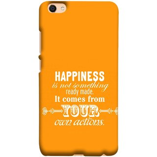 FUSON Designer Back Case Cover For Oppo F3 (It Comes From Your Own Actions Happy In Life)