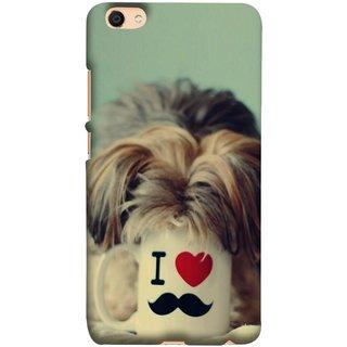 FUSON Designer Back Case Cover For Oppo F3 (Dog Baby Coffee Breakfast Tea Best Morning Loyal )