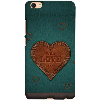 FUSON Designer Back Case Cover For Oppo F3 (Dil Se Tumhare Sath Always Leather Jacket Hearts)