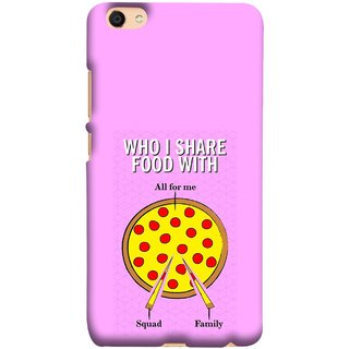 FUSON Designer Back Case Cover For Oppo F3 (Pizza Hut Domino Tomato Pizza Cheese Share Sharing)