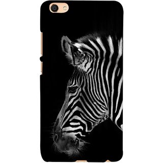 FUSON Designer Back Case Cover For Oppo F3 (Close Up Portrait Of A Baby Zebra Long Ears Strips)