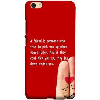 FUSON Designer Back Case Cover For Oppo F3 (Up When You Have Fallen If They Can'T Pick You )