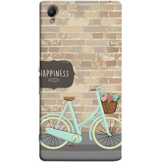 FUSON Designer Back Case Cover For Sony Xperia Z3+ :: Sony Xperia Z3 Plus :: Sony Xperia Z3+ Dual :: Sony Xperia Z3 Plus E6533 E6553 :: Sony Xperia Z4 (Bicycle Ride With Flowers And Way To Happy )