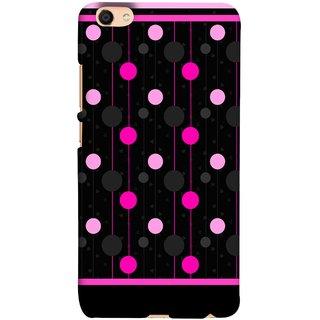 FUSON Designer Back Case Cover For Oppo F3 (Lines Of Pink Blurred Balls Falling Against A Black Background)