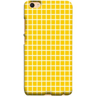 FUSON Designer Back Case Cover For Oppo F3 (Icons Abstract Motion Made Of Yellow Squares)