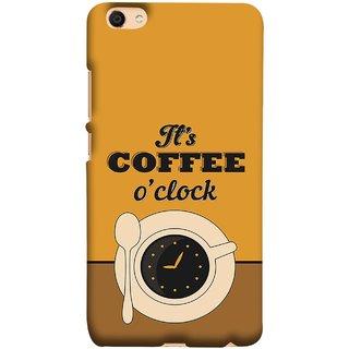 FUSON Designer Back Case Cover For Oppo F3 (Yellow Good Morning Tea Coffee Full Cup Black)