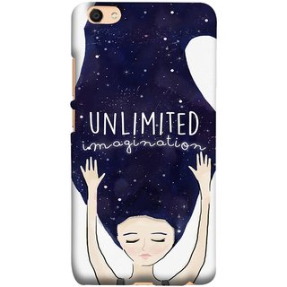 FUSON Designer Back Case Cover For Oppo F3 (Girls With Long Hairs See Universe Milky Way Stars )