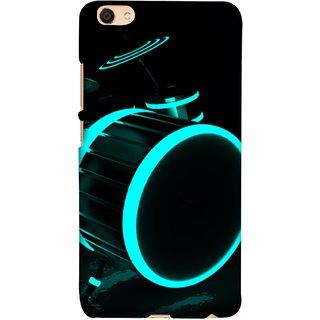 FUSON Designer Back Case Cover For Oppo F3 (Lighted Drums Led Light Up Drum Set Drum Lights )