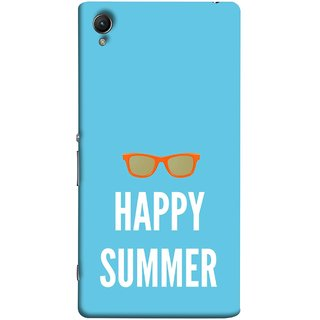 FUSON Designer Back Case Cover For Sony Xperia Z3+ :: Sony Xperia Z3 Plus :: Sony Xperia Z3+ Dual :: Sony Xperia Z3 Plus E6533 E6553 :: Sony Xperia Z4 (Beautiful Beach Sun Girls Yellow  Sunshine)