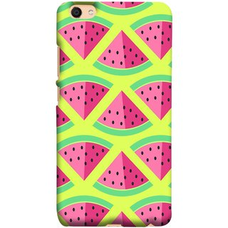 FUSON Designer Back Case Cover For Oppo F3 (Watermelon Slice Pattern Of Ripe Handdrawing )