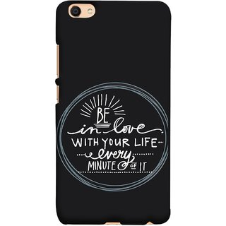 FUSON Designer Back Case Cover For Oppo F3 (Every Minute Of It Always Like Enjoy Happy Cool Relax)
