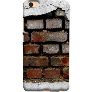 FUSON Designer Back Case Cover For Oppo F3 (Peeling Plaster Bricks White Cement Broken Small Big)