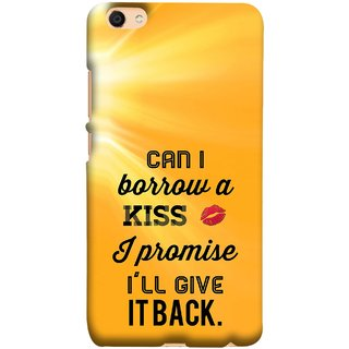 FUSON Designer Back Case Cover For Oppo F3 (Lips Kisses I Promise I Will Give It Back Valentine)