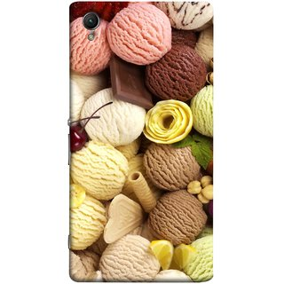 FUSON Designer Back Case Cover For Sony Xperia Z3+ :: Sony Xperia Z3 Plus :: Sony Xperia Z3+ Dual :: Sony Xperia Z3 Plus E6533 E6553 :: Sony Xperia Z4 (Cool Desserts Flavors Banana Chocolate Chips)