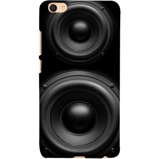 FUSON Designer Back Case Cover For Oppo F3 ( Closeup At Moving Sub-Woofer. Speaker Part Abstract)