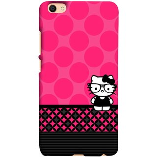 FUSON Designer Back Case Cover For Oppo F3 (Small Cute Pink Red Paper Bubbles Circles Valentine)
