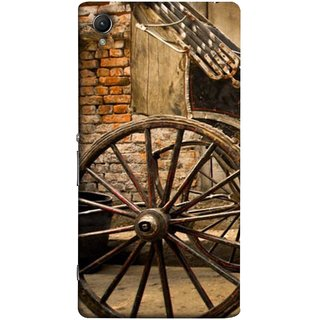 FUSON Designer Back Case Cover For Sony Xperia Z3+ :: Sony Xperia Z3 Plus :: Sony Xperia Z3+ Dual :: Sony Xperia Z3 Plus E6533 E6553 :: Sony Xperia Z4 (Wheel Hay Cart Old Wagons Indian Cycle Rickshow)