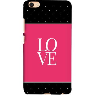 FUSON Designer Back Case Cover For Oppo F3 (White Dots On Black Background Prem Pyar)