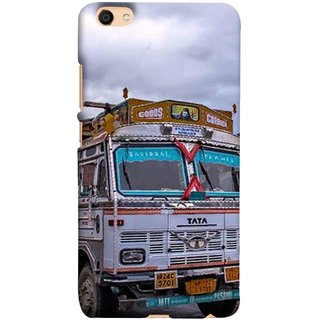FUSON Designer Back Case Cover For Oppo F3 (Decorated Goods Carrier On Mountain Road In The Himalayas )