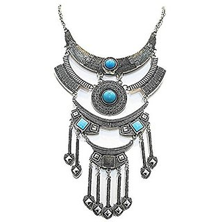 muccasacra Trendy Turquoise Arrow style long necklace Length 12 Inches