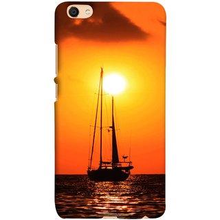 FUSON Designer Back Case Cover For Oppo F3 (Sailboat Sailing On The Beautiful Greek Sea Sunset )