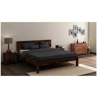 Buy Vintej Home Solide Sheesham Wood Teak Finish Queen Size Bed